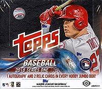 2018 Topps Series 1 MLB Baseball JUMBO box (10 pk)