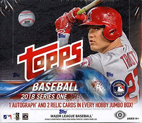 2018 Topps Series 1 MLB Baseball JUMBO box (10 ()