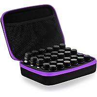 Frcolor 30 Bottle Essential Oils Storage Case Essential Oil Travel Box Holder Organizer (Purple)