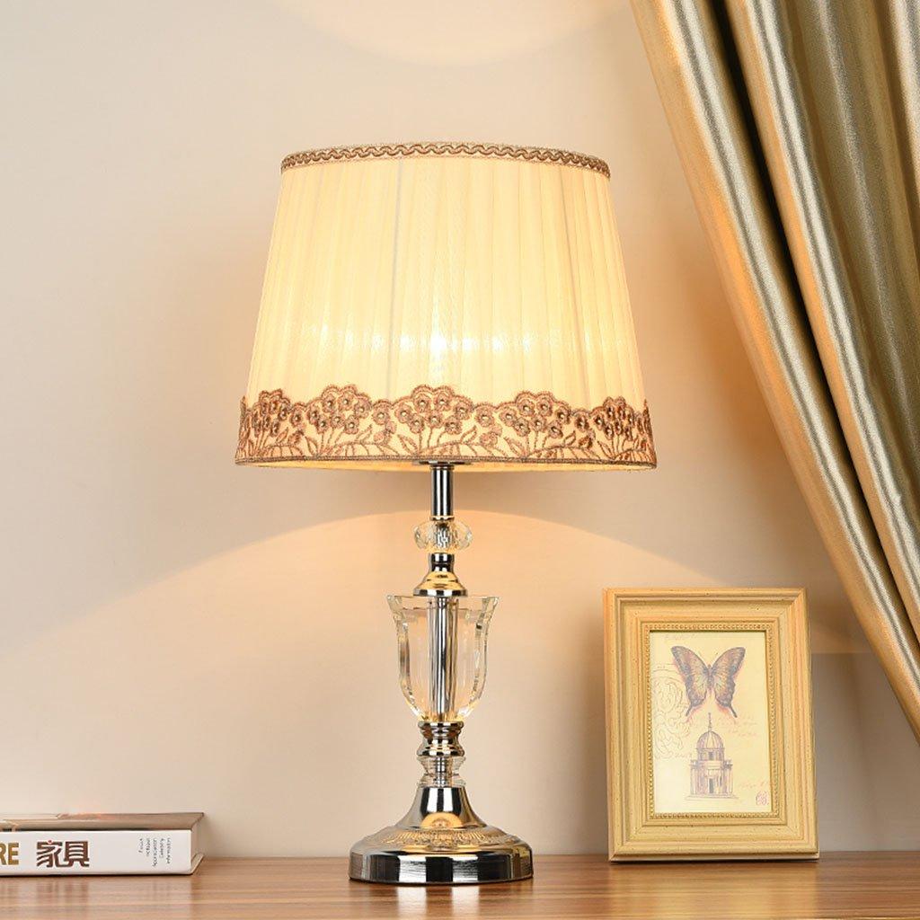 Briskaari Store- Modern Crystal Lamp Lighting Bedroom Bedside Lamp Luxury Crystal Desk Lamp with Cloth Lamp Shade by Briskaari Store (Image #5)