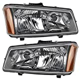 04 silverado headlight assembly - Driver and Passenger Headlights Headlamps Replacement for Chevrolet Pickup Truck 10396913 10396912