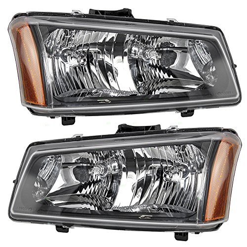 Headlights Headlamps Driver and Passenger Replacements for Chevrolet Pickup Truck 10396913 10396912