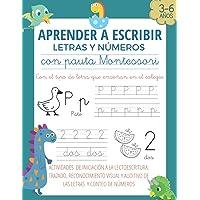 APRENDER A ESCRIBIR LETRAS Y NÚMEROS CON PAUTA MONTESSORI: Caligrafía iniciación a lectoescritura niños de 3 4 5 6 años…