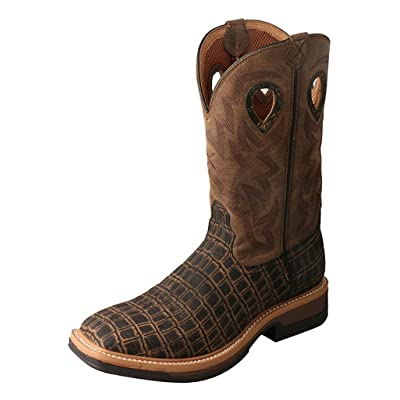 Twisted X Boots Mens Lite Cowboy Caiman Print AlloyToe Work Boot | Industrial & Construction Boots