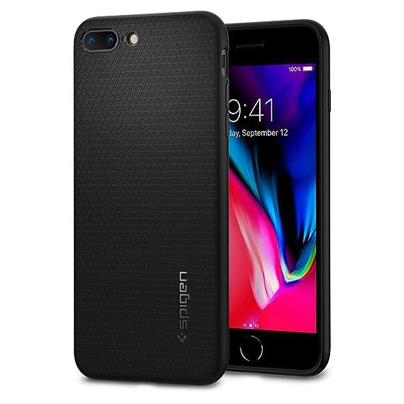d4e5dce0338 Spigen Liquid Air iPhone 7 Plus Case with Premium Flexible Soft TPU Case for  Apple iPhone 7 Plus 2016 - Black: Amazon.com.mx: Electrónicos