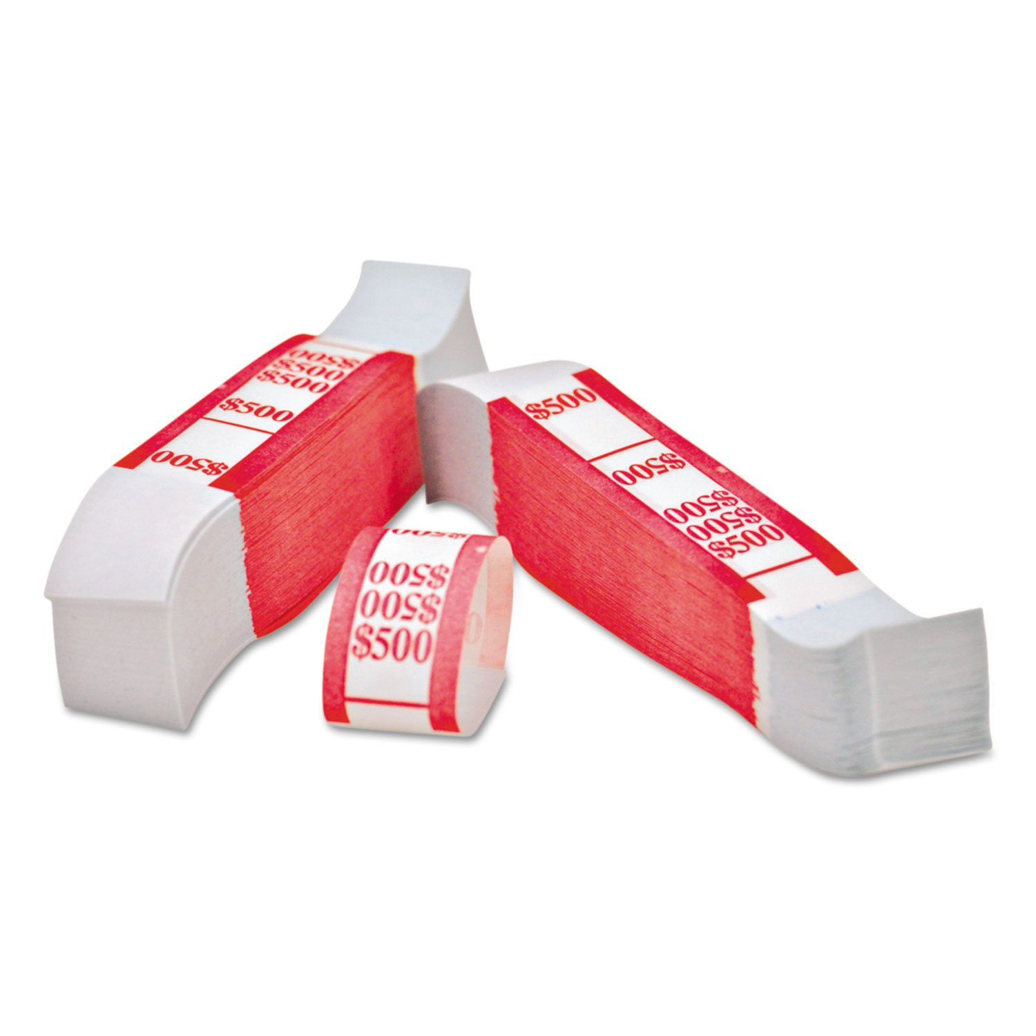 Self-Adhesive Currency Straps Red 1000 Bands//Pack $500 in $5 Bills