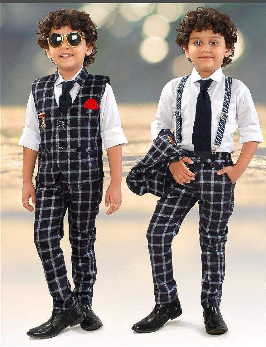 Latest baby Boy waist coat dress shirt and Suspender Gift Dresses