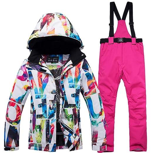 SKI Conjunto de Pantalones de Chaquetas de esquí Impermeables para ...