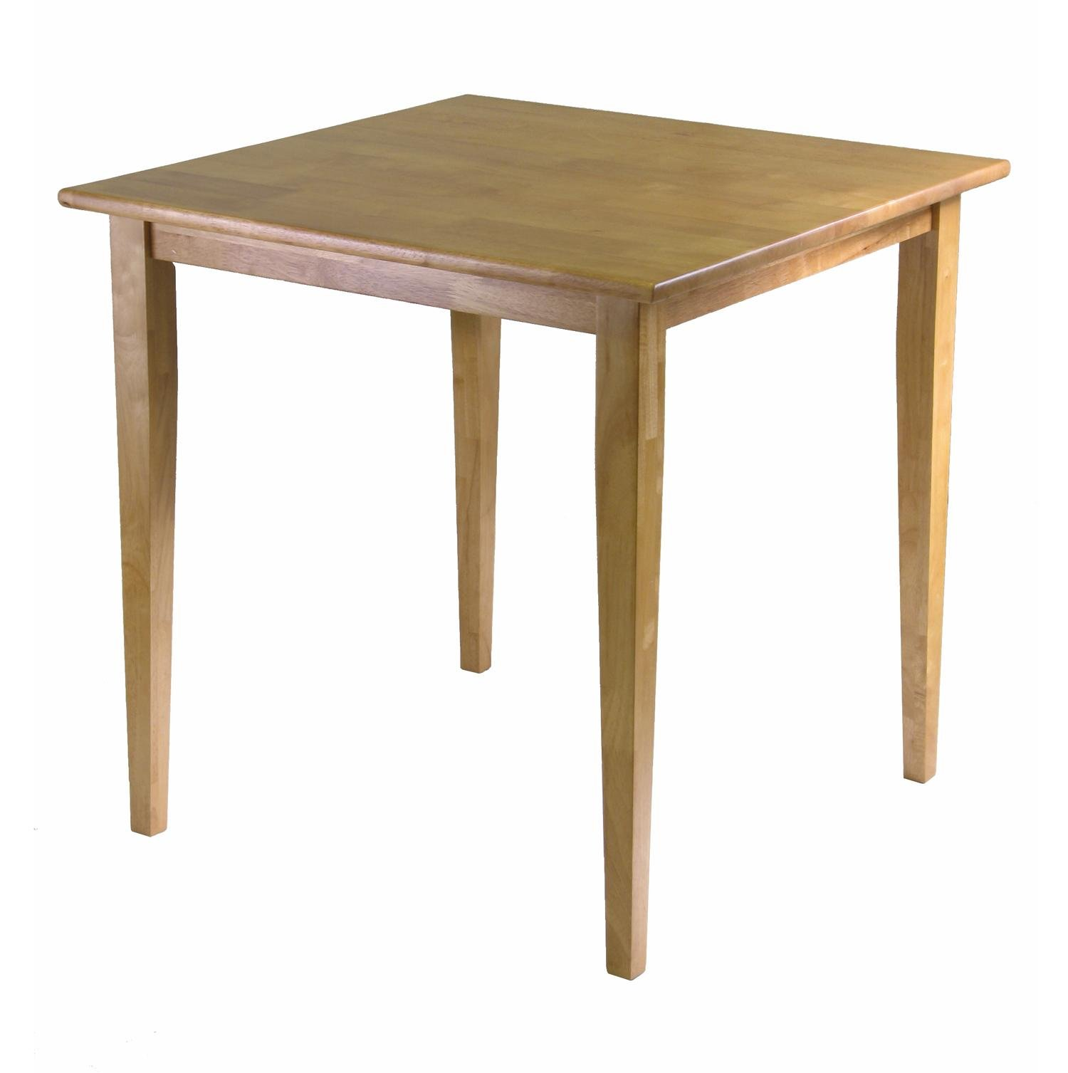 Winsome Wood Groveland Square Dining Table with Shaker legs, Light Oak Finish