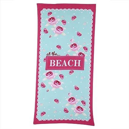 Fdit Toalla Suave de Playa de Gran tamaño para Viaje Piscina Acampar Gimnasio Baño Yoga Microfibra