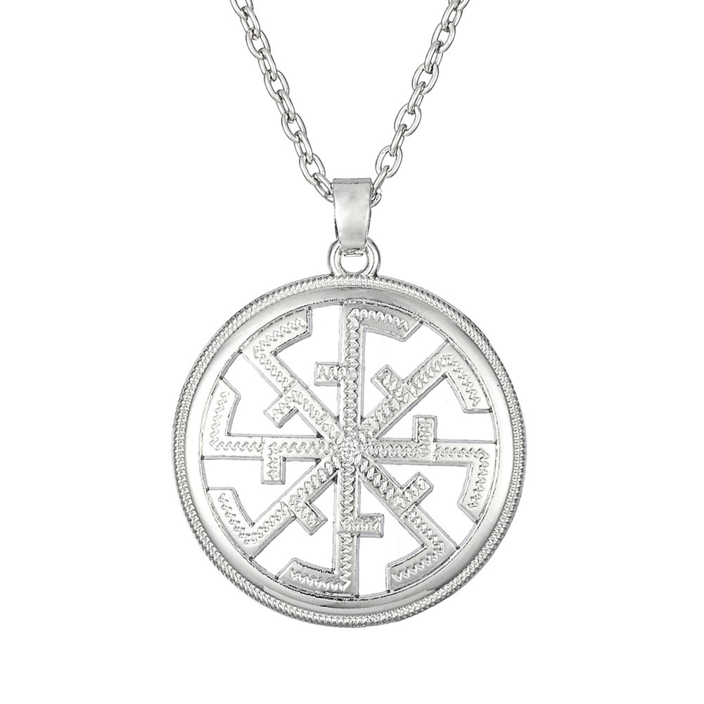 Fashion Necklace for Men and Women Religious Slavic Amulet Pendant Necklaces with Adjustable Link