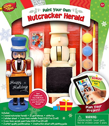 MasterPieces Works of Ahhh Holiday Nutcracker Herland Wood Paint Kit