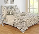 Yuga 3 Piece Set Of King Size Ivory Cotton Bed Sheet With Decorative Pillow Covers