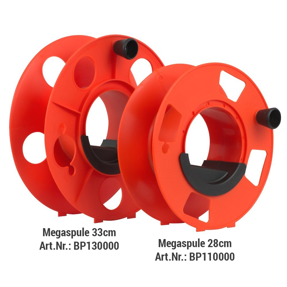 Cable drum, cable reel, hose reel, rope drum - Mega reel - 13x5.5 inch - with winding handle Colours in Motion