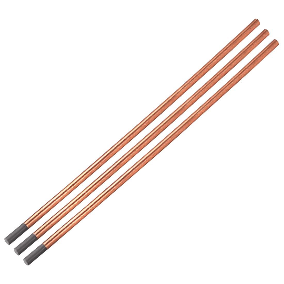 Sourcingmap electrodos de cobre 5//16 3 PCS Varillas de cocci/ón de carbono revestidas de cobre