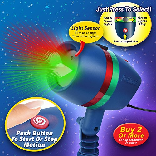 Star shower as seen on tv motion laser lights star projector buy online in uae lawn patio for Star shower motion m6