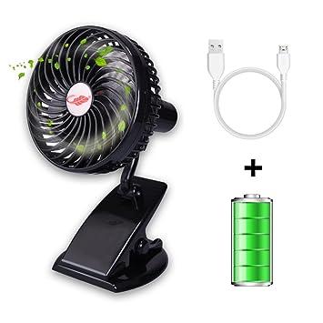 Rasse Mini Ventilador portátil USB, Ventilador de Escritorio con batería Recargable Ventilador de refrigeración Personal: Amazon.es: Hogar
