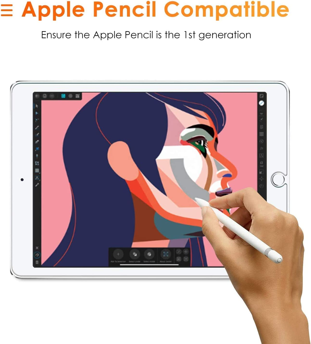 SPARIN [3 Pack] Screen Protector for iPad 8th Generation / iPad 7th Generation (10.2 Inch), Tempered Glass / Apple Pencil Compatible / High Definition: Electronics