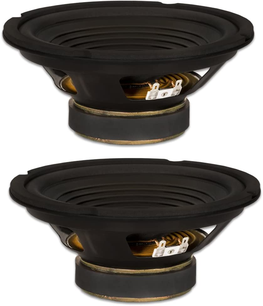 "2 Goldwood Sound GW-208/8 OEM 8"" Woofers 200 Watts Each 8ohm Replacement Speakers"