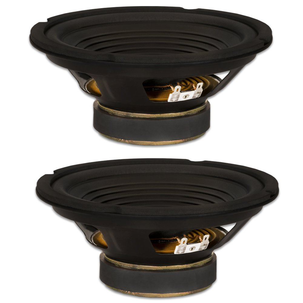 2 Goldwood Sound GW-208/8 OEM 8'' Woofers 200 Watts each 8ohm Replacement Speakers