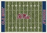 5x8 Milliken Mississippi Ole Miss Rebels NCAA Field Area Rug - Approx 5'4''x7'8'' ,,#G434G14 1T4G3484TYG414526
