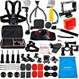 LifeLimit Accessories Kit for Hero 5 / Session / Gopro 4 / Gopro 3 / Gopro 2 / Gopro HD Cameras (45 Items)