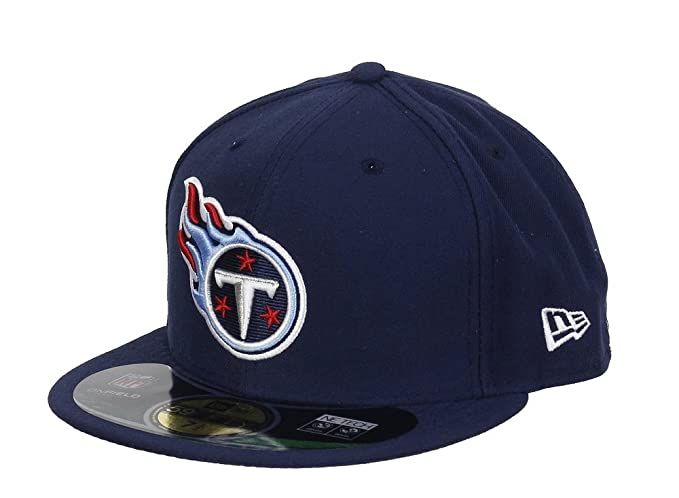 2d4dcd2ebf9 Amazon.com   NFL Mens Tenessee Titans On Field 5950 Navy Game Cap By New  Era   Sports Fan Baseball Caps   Clothing