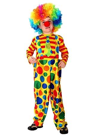 Disfraz Payaso Cosplay Traje de Halloween de Niños, Niñas para Fiesta Carnaval, Navidad, Actuación (X-Laege para 130 - 140)