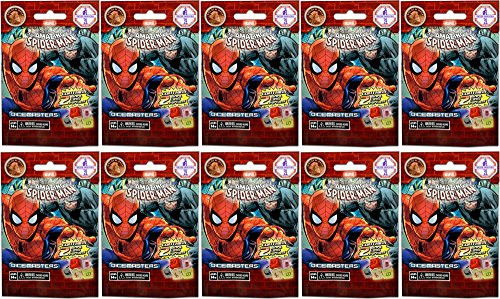 10 (Ten) Boosters Packs of Marvel Dice M - Spider Man Booster Pack Shopping Results