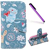 S4 Mini Case, Galaxy S4 Mini Case, EMAXELER PU Leather Wallet Flip Protective Skin Case with Magnetic Closure for Samsung Galaxy S4 Mini i9190 (Built-in Credit Card/ID Card Slot)--Cats Love
