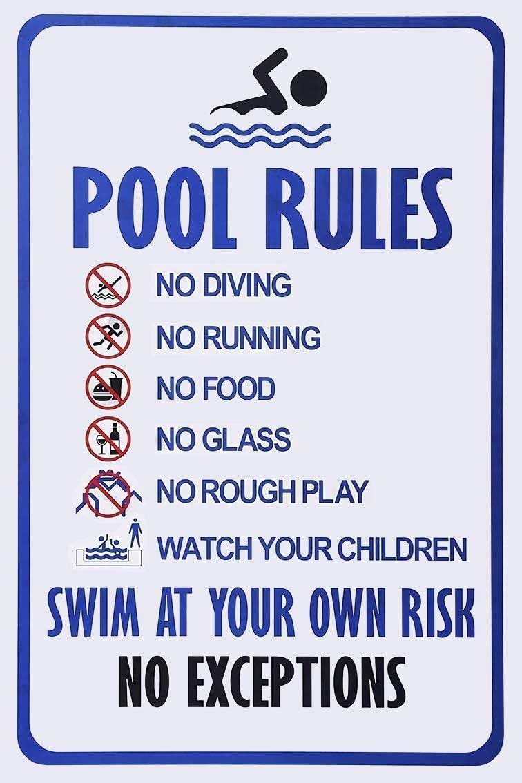 "Pool Zone 12/"" Bottle Cap Metal Sign Recreation Swimming Fun Home Wall Decor"