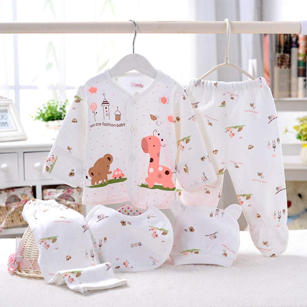 5pcs Layette Set Clothing Newborn Baby Boy Girl Clothes Unisex Infant Outfits