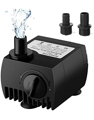 SeeKool Mini Bomba de Agua Ultra Silencioso 300L/H Submersible Pump 3W Circulation Pump con