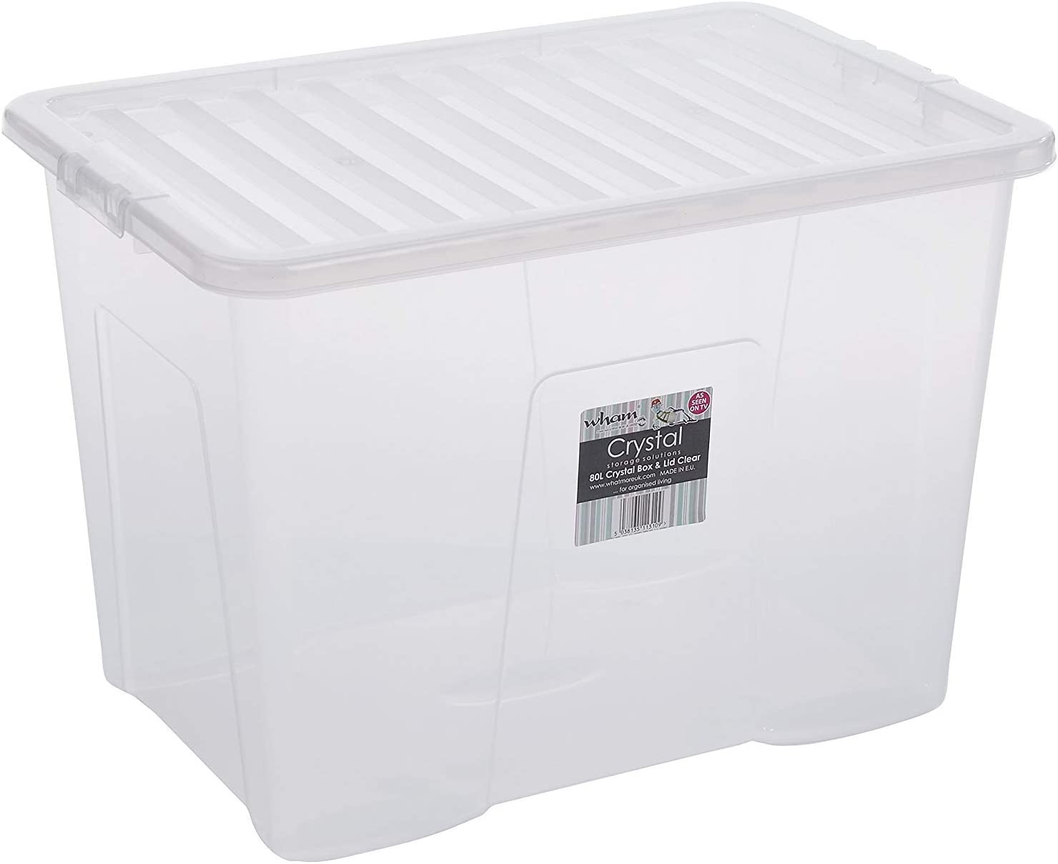 Wham Plastic Storage Boxes - Pack Of 5 (80 Litre)