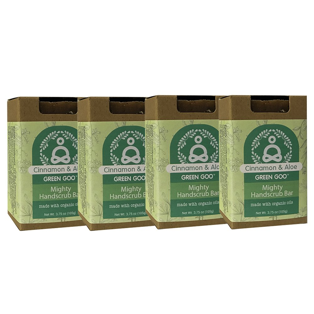 Green Goo Cinnamon Aloe Hand Scrub Mighty Handscrub (4 Piece), 14 Ounce