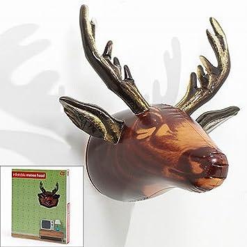 Amazoncom Inflatable Moose Trophy Wall Decor Man Cave Decor - Moose wall decor