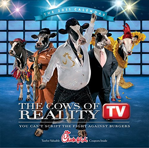 2011 Chick Fil A Wall Calendar  The Cows Of Reality Tv   No Coupons