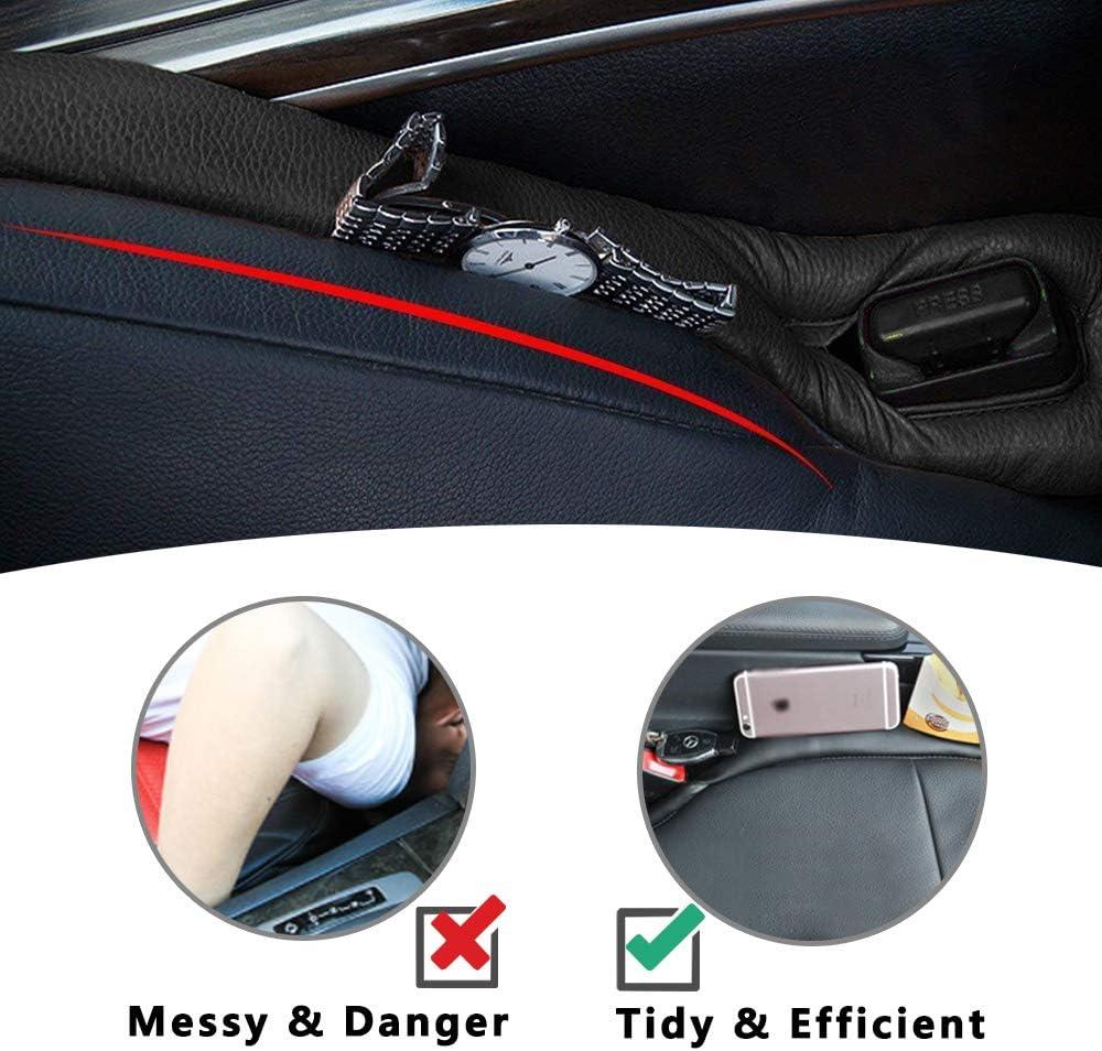 Universel Car seat Gap Filler Antifrop Leakproof Universel Gap Filler Pad pour Auto Voiture 2Pcs Gap Filler Pad Si/ège de Voiture Noir