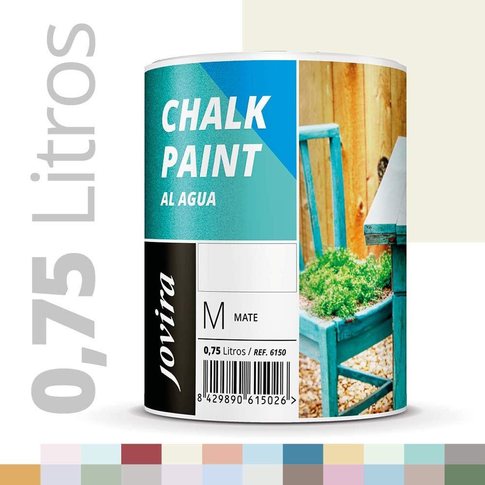 PINTURA EFECTO TIZA,CHALK PAINT, AL AGUA MATE, Renueva tus muebles con creatividad. (750ML, BLANCO ANTIGUO)