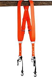 product image for HoldFast Gear Money Maker Vegan 2 Camera Harness (Orange, Large)