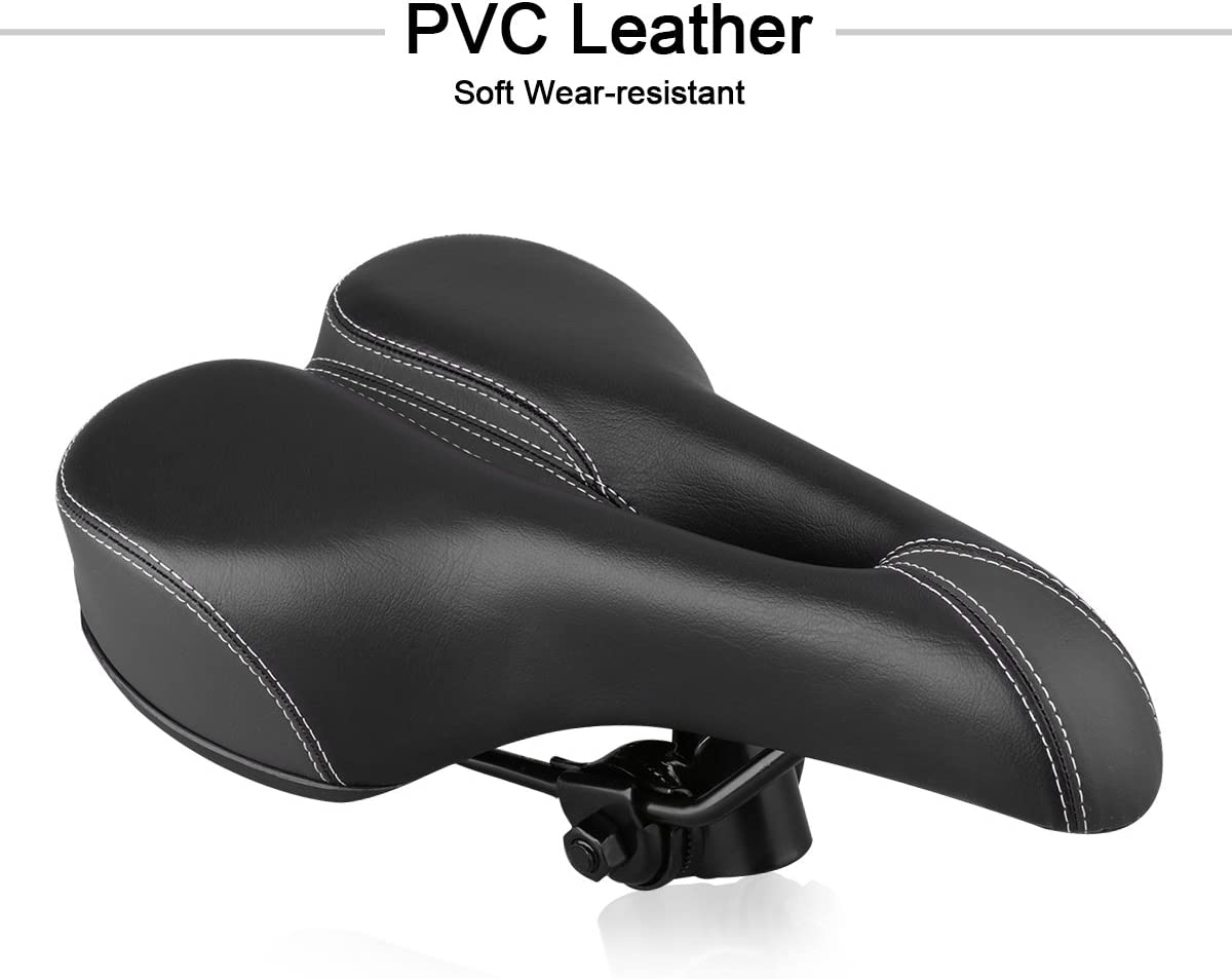 MTBHOME Hollow-Out Comfortable Bike Seat for Men and Women Memory Foam Cushion Padding Bicycle Saddle with Seat Post Clamp