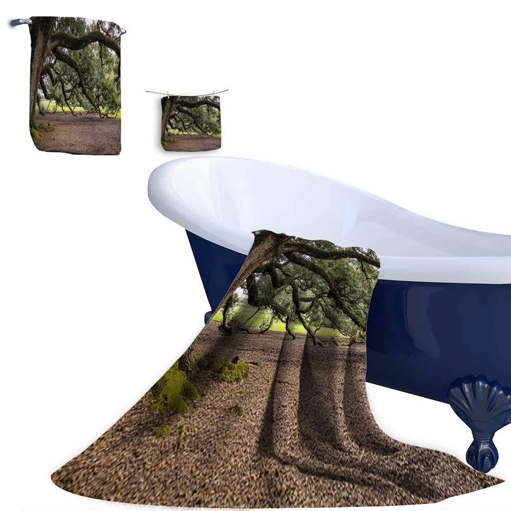 Leigh home 3 Piece Bath Towel & Washcloth Set, Oak Trees in Virginia Super Soft & Absorbent Fade Resistant Cotton Towel Set