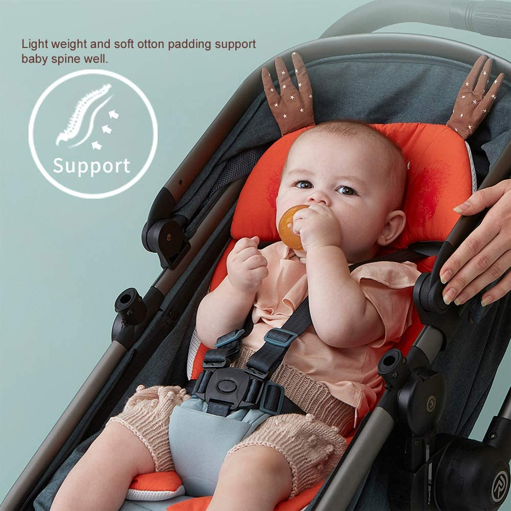 Bebamour Seat Liner for Baby Summer Universal Baby Seat Cushion for Stroller Breathable Baby Seat Pad for Pram Pink