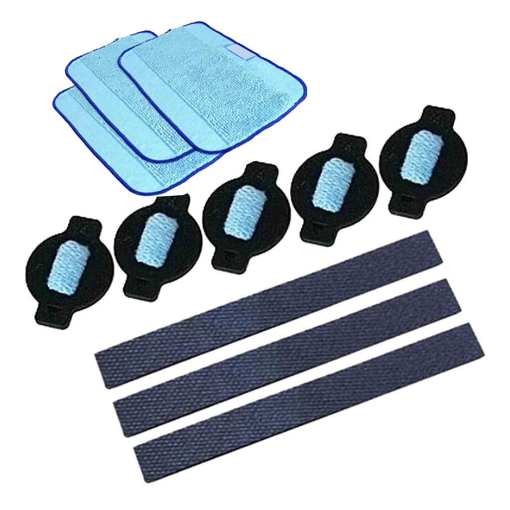 Gomma di Pneumatici per Ruote Kit Panni Microfibra Wet F Fityle Accessori per Aspirapolvere iRobot Braava Tamponi Umidificatori di Ricambio