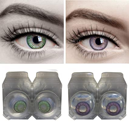 ae4613e853c5 Buy Iconic Eye® Green   voilet (purple) Monthly Contact Lens Online at Low  Prices in India - Amazon.in