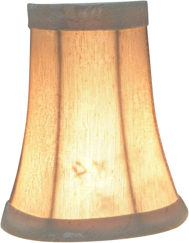 2 1//2 x 4 x 5 2 x Aspen Creative 30247-9 Small Bell Shape Chandelier Clip-on Lamp Shade Set Transitional Design 4 Bottom Width 9 Pack Light Brown