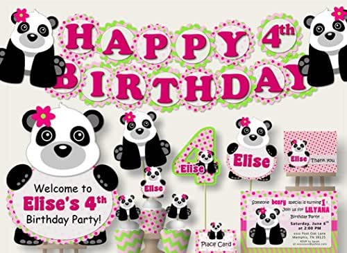 Amazon.com: Personalized Girl Panda Birthday Party Or Baby
