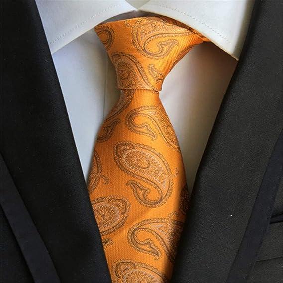 XJIUER corbata Corbata de Seda a Cuadros de Jacquard a Rayas para ...