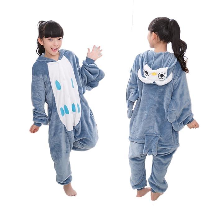 51a61842 Amazon.com: Vimans Child Onesie Sleepwear for Children Christmas Owl ...