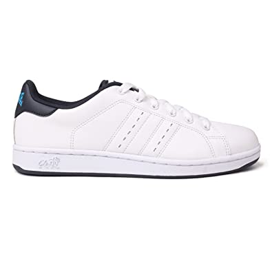 d9f4f179a4a022 Lonsdale Mens Leyton Trainers White/Navy UK 12: Amazon.co.uk: Shoes & Bags